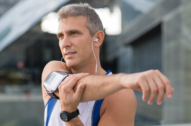 Male Athlete Exercising Outdoor