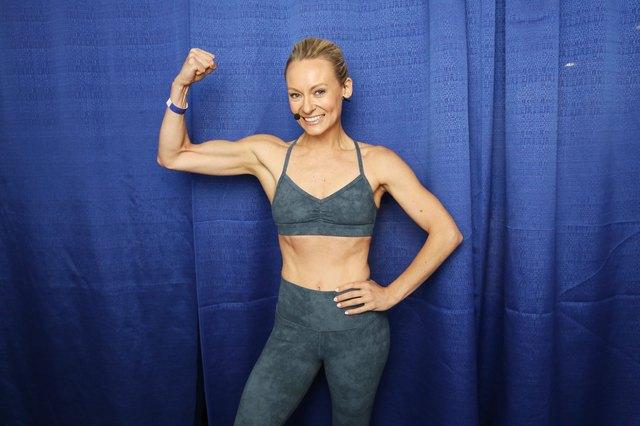 celebrity fitness trainer Simone De La Rue at POPSUGAR Play/Ground - Day 2
