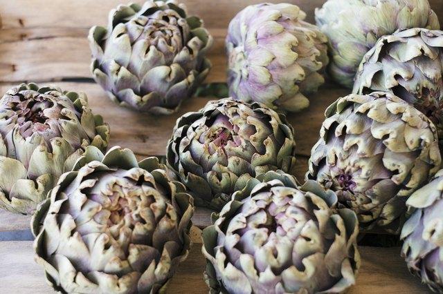 Artichoke hearts in an Italian market