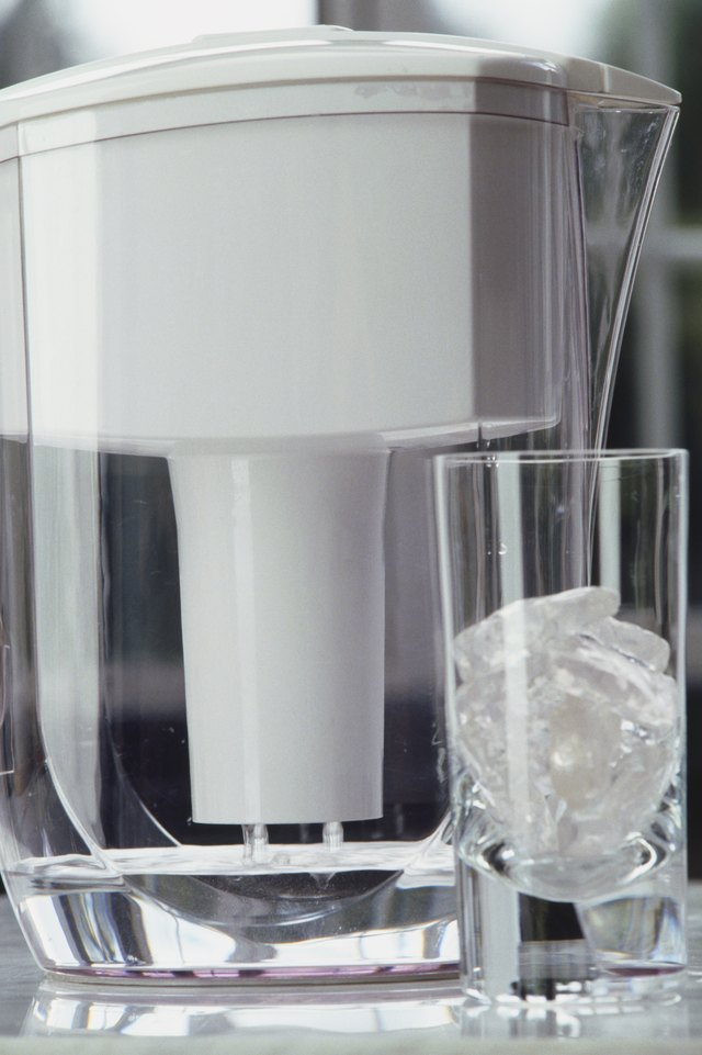 Water filter and glass.