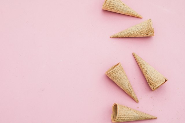 ice cones in pink background
