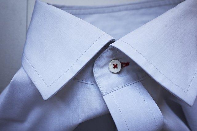 Buttoned shirt collar