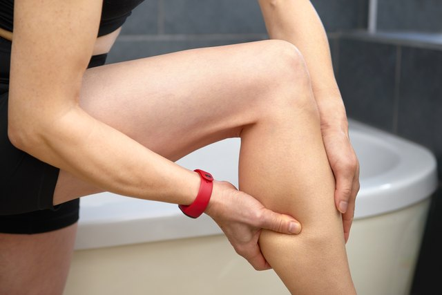 massaging pain in leg after exercise