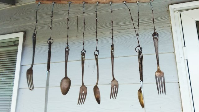 Hanging Spoons And Forks