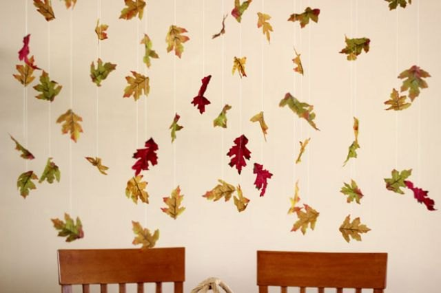 Leaves appear to flutter above your table.