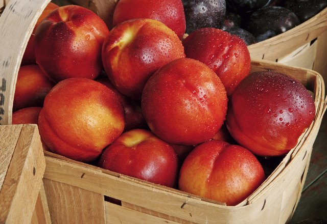Buy the most fragrant, ripe nectarines or ripen them at home in a bag