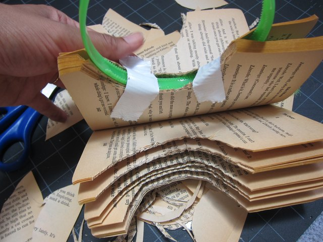 Tape the book to the headband