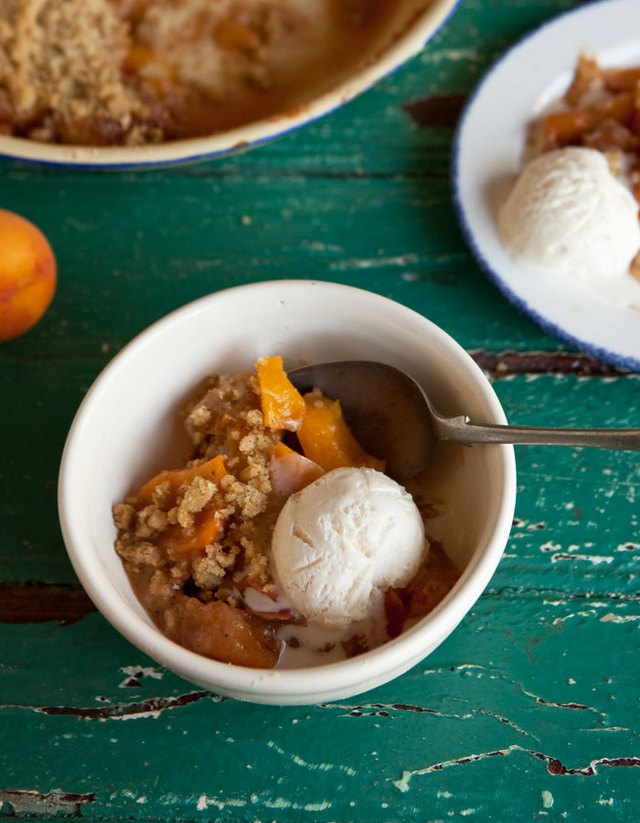 A classic stone fruit crumble is a sure win every time!