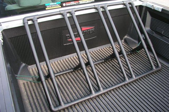 Installed pickup truck bike rack.