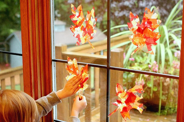 Suncatchers capture the warmth of fall's sunlight.