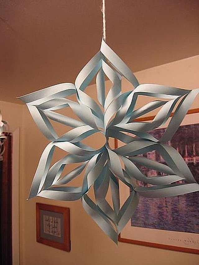 How to Make a 3D Paper Snowflakes | eHow