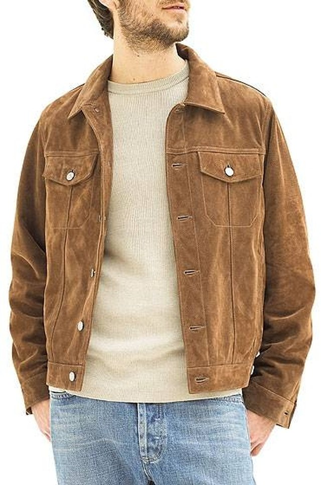 Suede jackets are always classic and fashionable.