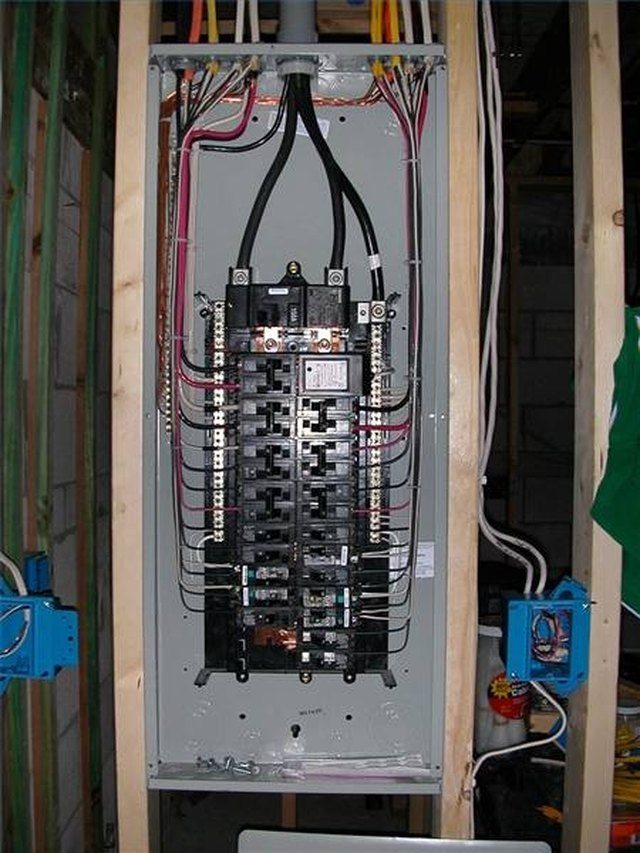 Installing Circuit Breaker Panels   eHow on grounding an electrical panel, wiring an air compressor, wiring an electric motor, hiding an electrical panel, wire an electrical panel,
