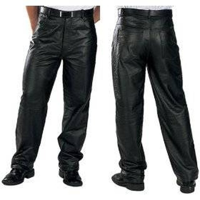 Shrink Leather Pants