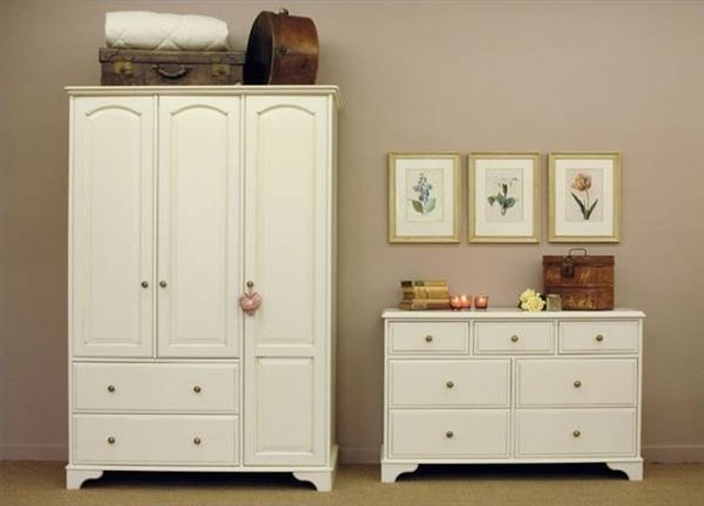 Painted Armoire And Dresser