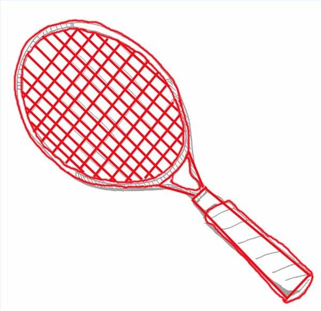 How To Draw A Tennis Racquet With Pictures Ehow