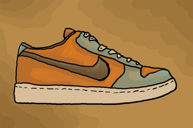 first rate b6703 e0e2e How to Draw Nike Shoes (with Pictures)   eHow