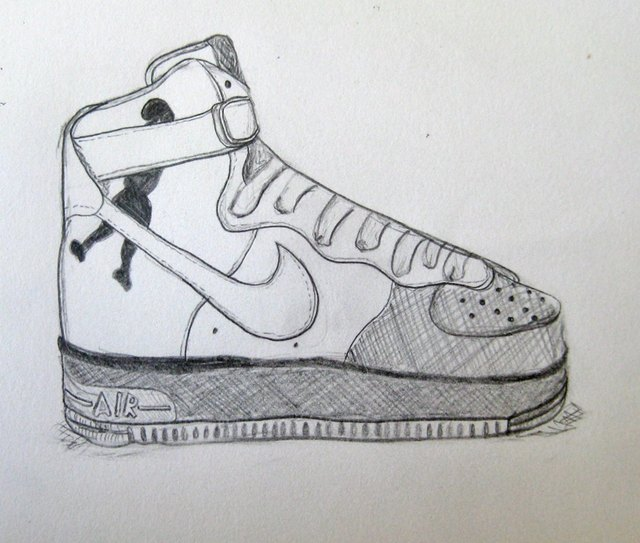 new products a2a5c 0381f Complete Nike Air Force Ones Drawing.
