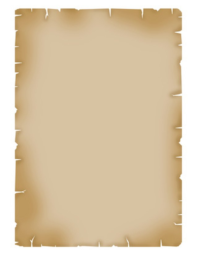Parchment scroll invitations can be made at home.