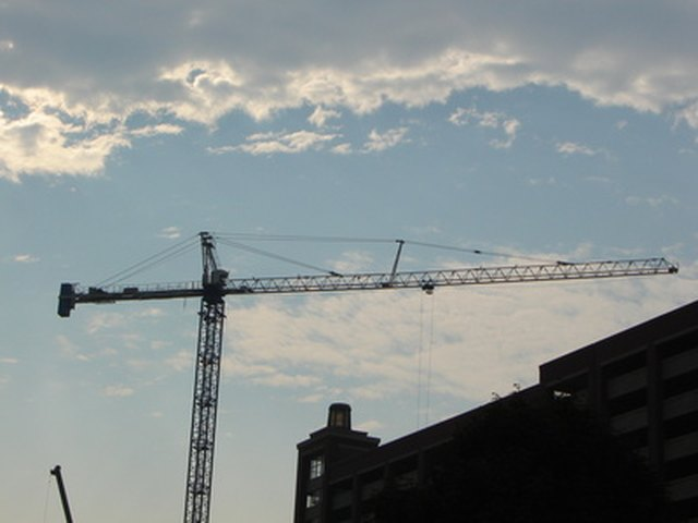 A Hammerhead Type Crane These Are Used In Building Construction
