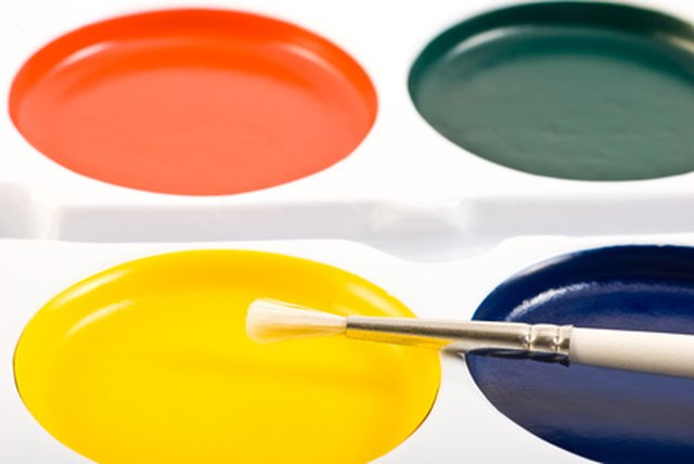 Make Black Watercolor Paints By Mixing Three Primary Paint Colors Together
