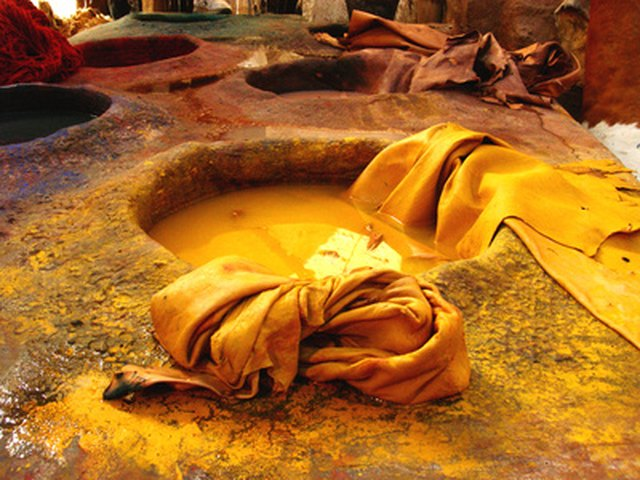 People have been making natural fabric dye for centuries.