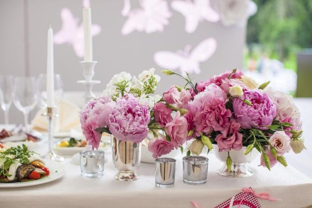 Luxuriant peonies bring fragrance to elaborate and informal settings.