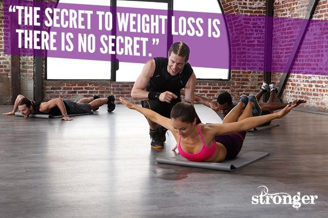 The secret to weight loss is: There is no secret.