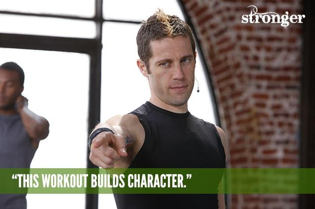 This workout builds character.