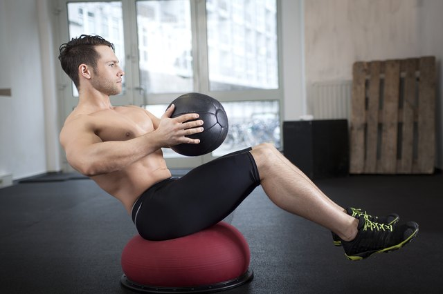 Core exercise with medicine and Togu ball