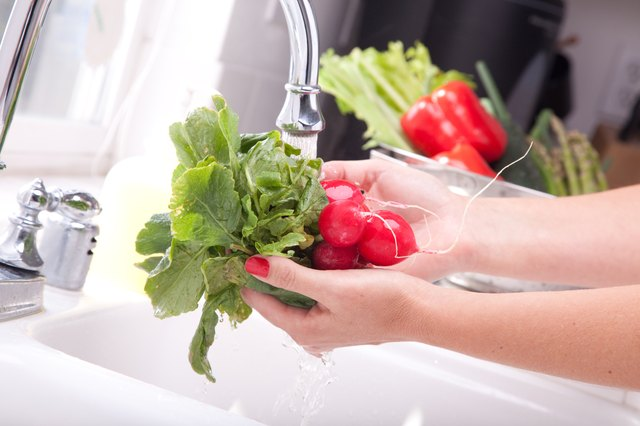 Woman Washing Radish