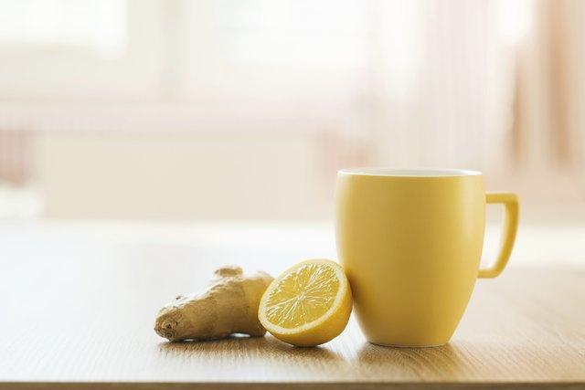 Detail of honey and lemon
