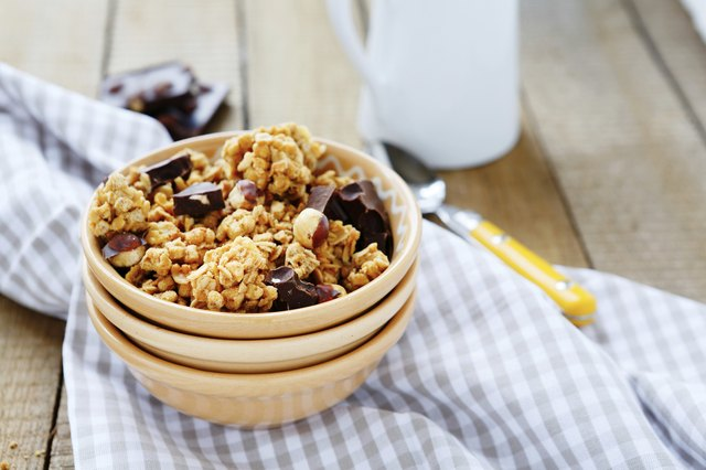 bowl of granola and chocolate chips
