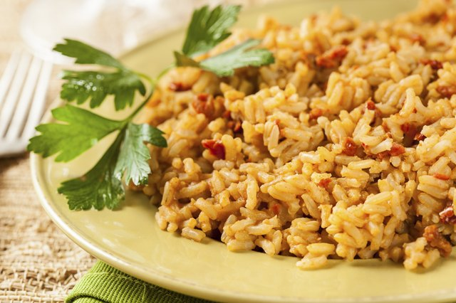 Homemade Spanish Rice with Parsley