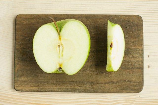 Half cut apple