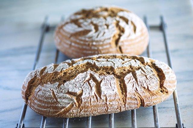 Sourdough Bread Cooling