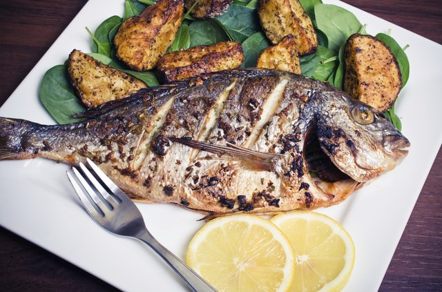 Roasted gilthead fish