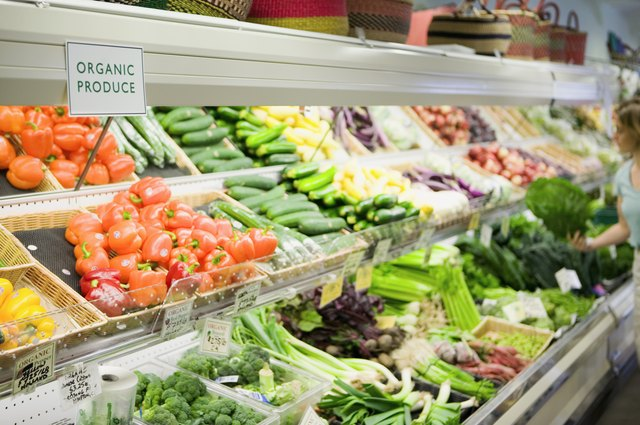 Produce section of store
