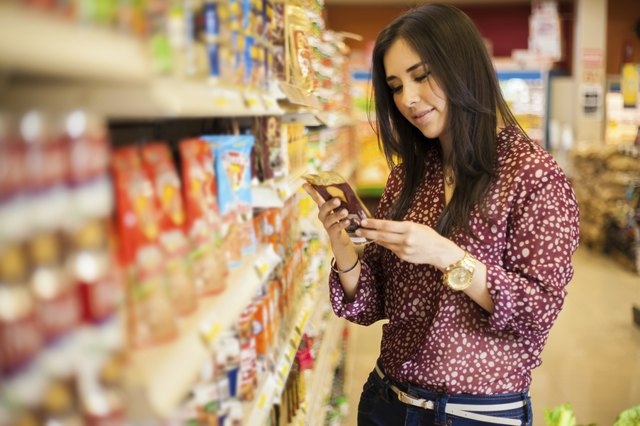 Looking at the food label