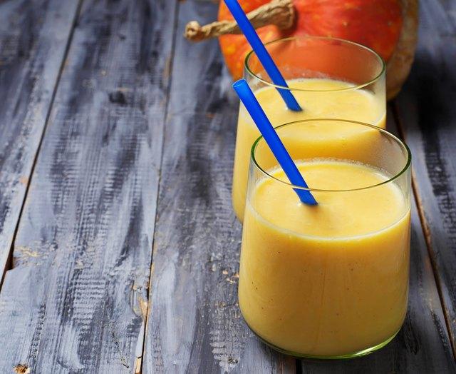 Fresh pumpkin smoothie, healthy drink