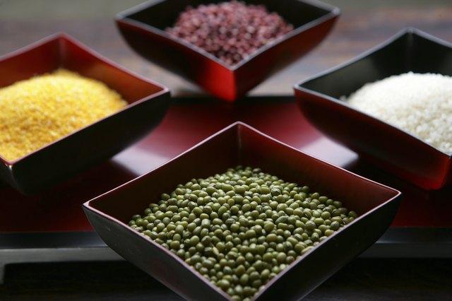 high angle view of grains