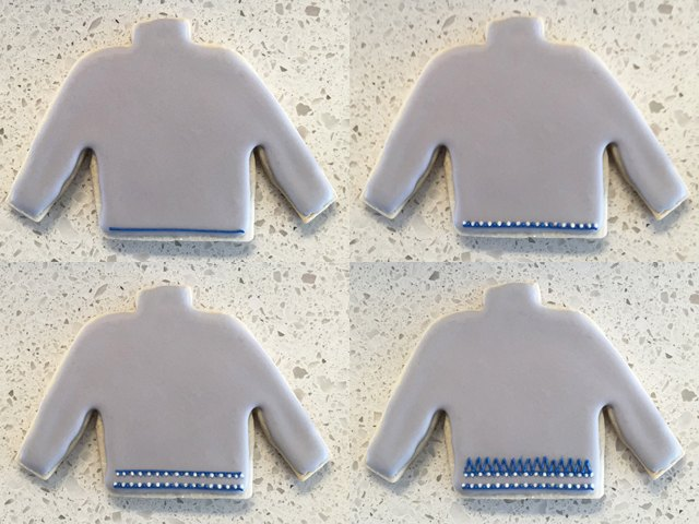R2-D2 Ugly Christmas Sweater Cookie Steps 1-4