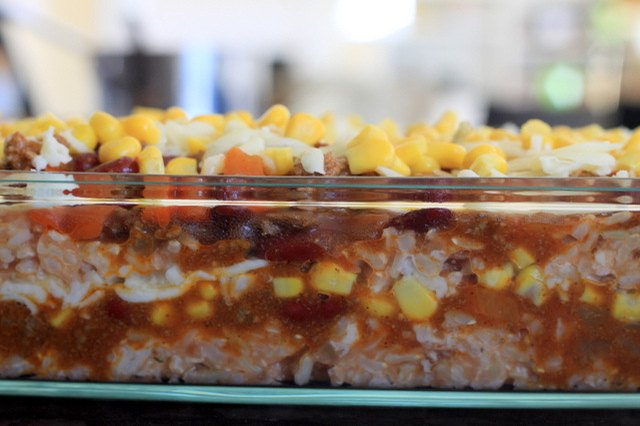 If you're baking this casserole ahead of time, reduce cooking time to 25 minutes.