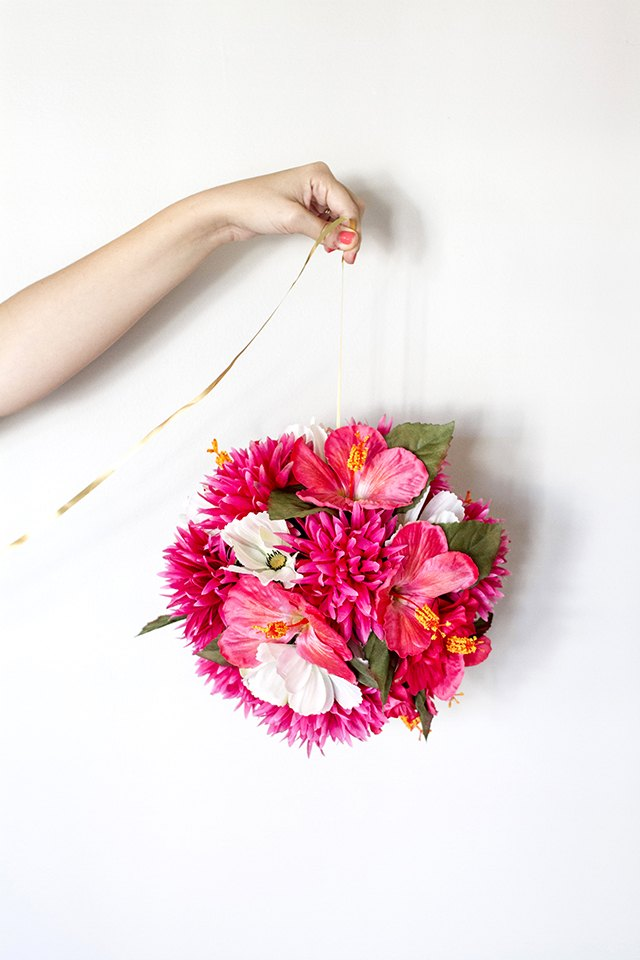 How to make hanging flower balls with pictures ehow repeat the steps to create additional hanging flower balls mightylinksfo