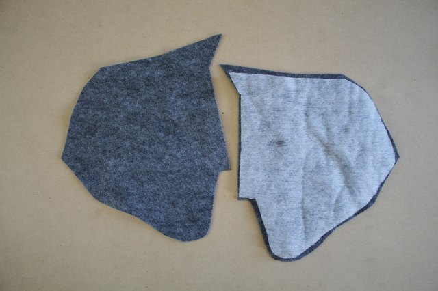 Place a piece of batting in-between the felt ear pieces to add shape.
