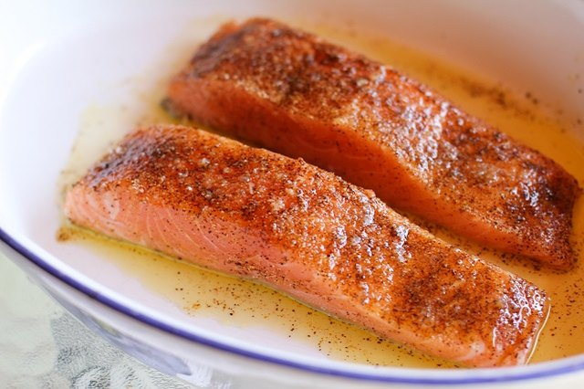 Season salmon with your favorite seasonings