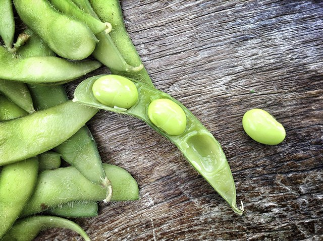 Edamame's high protein and fiber helps you feel full.