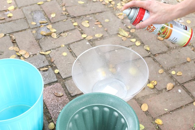 Use cooking spray on the plastic molds to ease the removal process