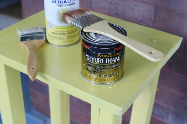 How To Paint Wood Bar Stools With Pictures Ehow
