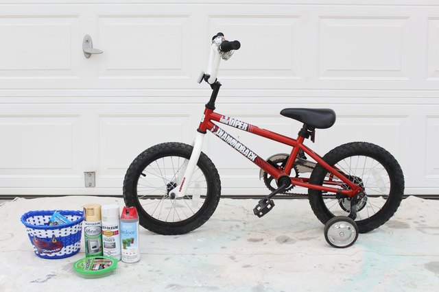 Kid's bike and supplies